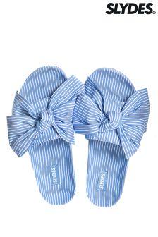 Slydes Stripe Bow Sliders