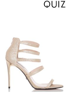 Quiz Multi Strap Heeled Sandals