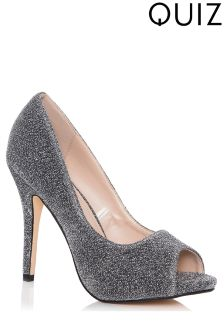 Quiz Lace Peep Toe Court