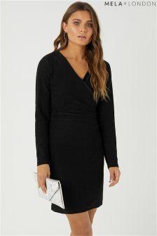 Mela London Shimmer Wrap Bodycon Dress