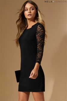 Mela London Lace Sleeve Bodycon Dress