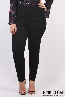 Pink Clove Trousers With Pocket Detail