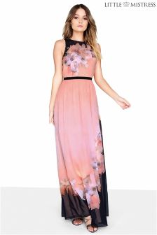 Little Mistress Placement Print Maxi Dress