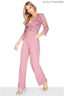 Little Mistress Crochet Jumpsuit