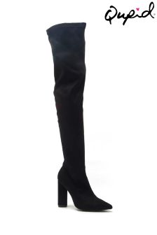 Qupid Over The Knee Heeled Boots