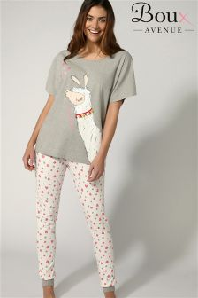 Boux Avenue Tee And Leggings Llama  PJ Set