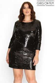 Girls On Film Curve Sequin Bodycon Dress