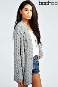 Boohoo Lucy Cable Knit Cardigan