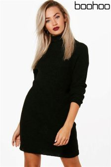 Boohoo Freya Funnel Neck Dress