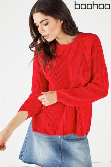 Boohoo Fisherman Jumper