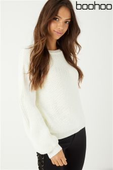 Boohoo Balloon Sleeve Jumper