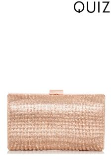 Quiz Diamanté Shimmer Box Clutch