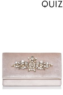 Quiz Jewelled Clutch Bag