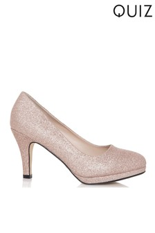 Quiz Shimmer Platform Low Heel Courts