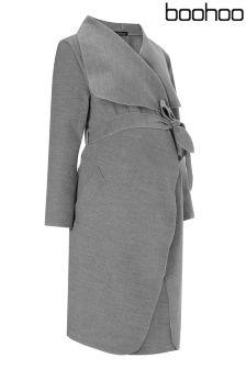 Boohoo Maternity Bella Belted Shawl Coat