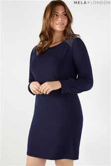 Mela London Curve Beaded Shoulder Dress