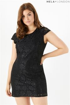 Mela London Curve Lace Sequin Dress