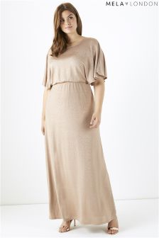 Mela London Curve Kimono Sleeve Maxi Dress