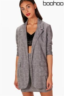 Boohoo Check Tailored Blazer