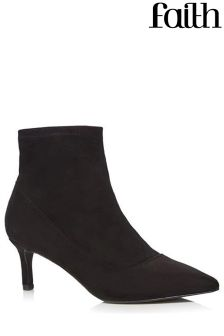 Faith Kitten Heel Ankle Boots
