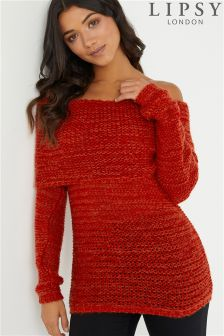 Lipsy Open Stitch Bardot Jumper
