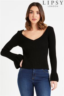 Lipsy Deep V neck Front Back Jumper