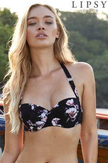 Lipsy Amber Print Bikini Top