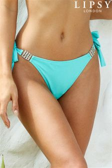 Lipsy Bling Trim Tie Side Bikini Briefs