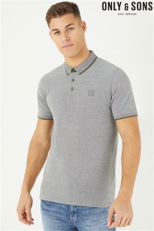 Only & Sons Short Sleeve Fitted Polo Tee