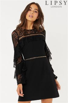 Lipsy Eyelet Shoulder Bodycon Dress