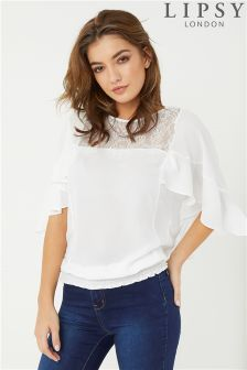 Lipsy Cape Sleeve Lace Top
