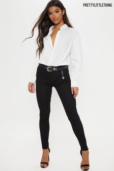 Prettylittlething Low Rise Skinny Fit Jeans