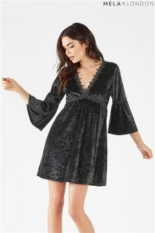 Mela London Longsleeve Velvet Dress