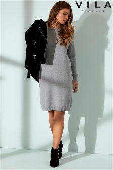 Vila Knit Long Sleeves Jumper Dress