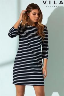 Vila Stripe Shift Dress