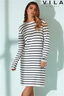 Vila Stripe Shift Dress
