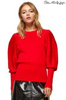 Miss Selfridge Red Jumper