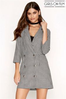 Girls On Film Dogtooth Mini Dress