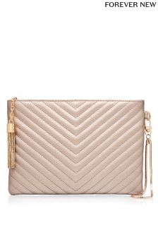 Forever New Amy Chevron Quilt Clutch