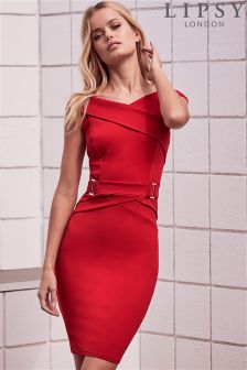 Lipsy Petite Buckle Waist Bodycon Dress
