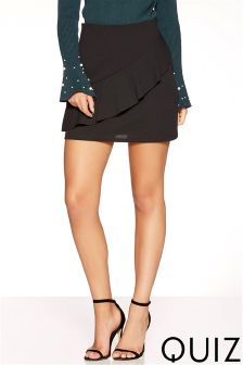 Quiz Frill Front Skirt