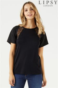 Lipsy Lace Detail Tee