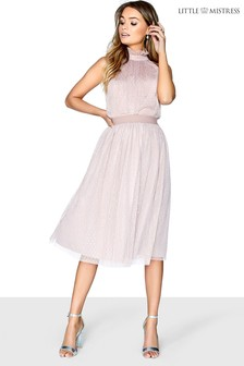 Little Mistress Dotty Mesh Bridesmaid Skirt