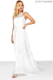 Little Mistress High Neck Lace Bridal Dress