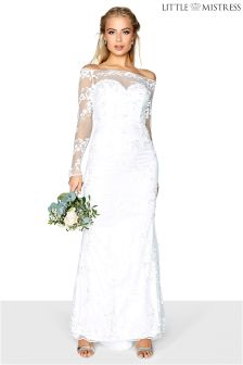 Little Mistress Lace Bridal Maxi Dress