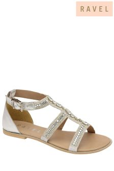 Ravel Embellished Flat Sandals
