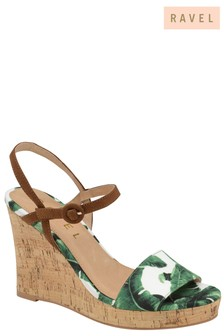 Ravel Wedge Printed Sandals