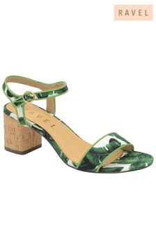 Ravel Mid Heel Ankle Strap Sandals