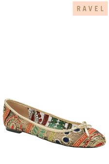 Ravel Printed Ballerina Sandals