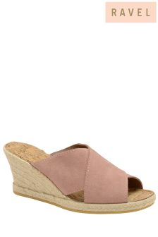 Ravel Cross Strap Low Wedges